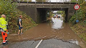 Fyns Politi advarer efter massiv regn og flere uheld