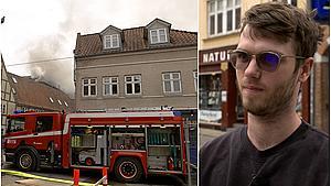 Jonathan lugtede røg - pludselig var der brandbiler til højre og venstre