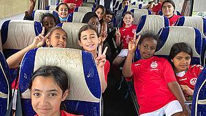 Soumiya og vennerne er på vej: Børn fra Vollsmose inviteret til landskamp
