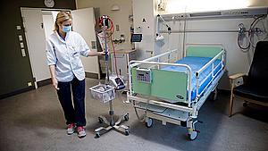 Tomme senge: Under ti indlagte corona-patienter på OUH for første gang i måneder