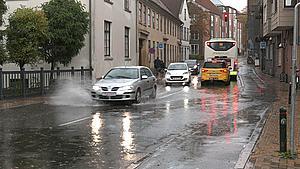 Store mængder regn vælter ned over Fyn