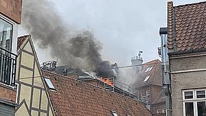 Brand i det indre Odense - beboere evakueret