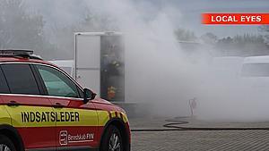 Brand i eldrevet foodtruck: - Gasserne kan være farlige for mennesker