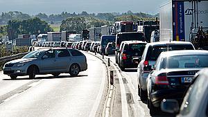 Lørdagsbilister kan forvente trafikklumper og kødannelse