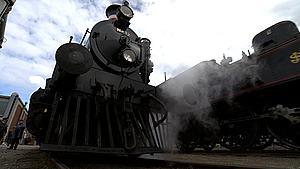 Der var fuld damp på jernbanemuseet